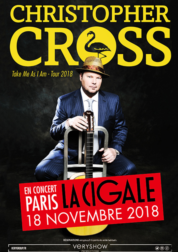 Christopher Cross à la Cigale - 18/11