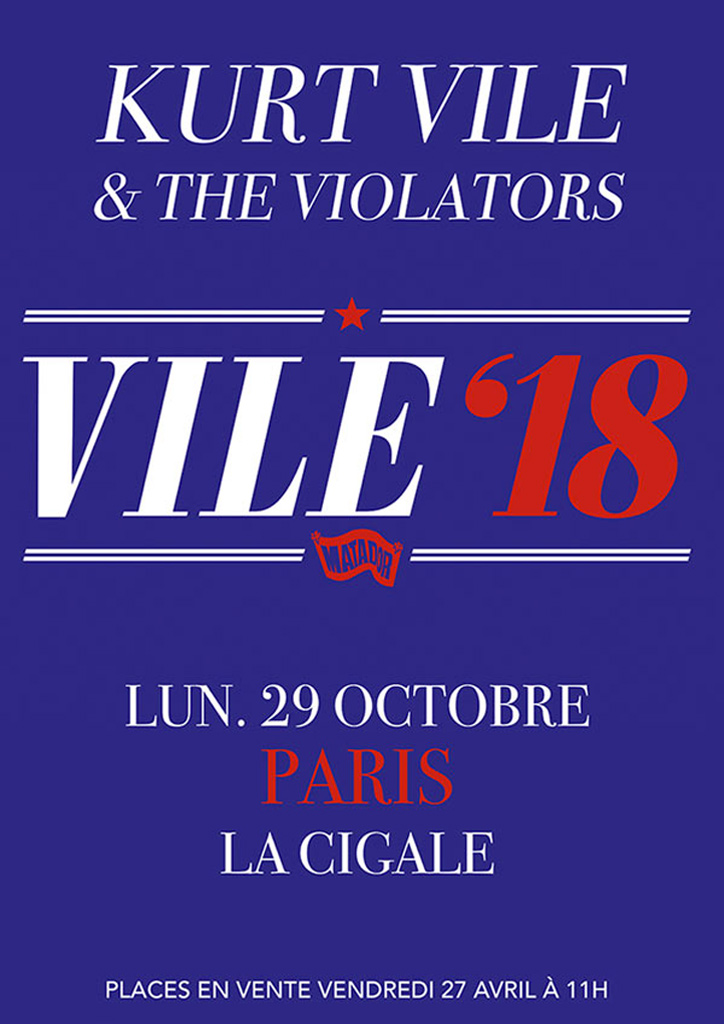 Kurt Vile & The Violators à la Cigale le 29/10