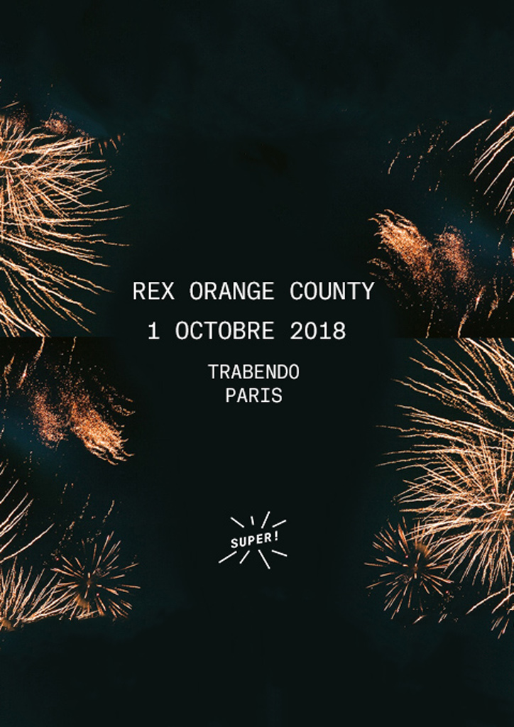 Rex Orange County le 1er octobre au Trabendo